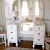 Meja Rias Vanity Duco Putih