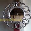 Pigura Cermin Silver Gosok