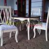 Meja Makan Bulat Silang