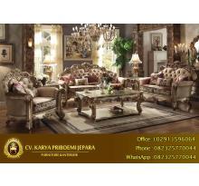 Kursi Tamu Sofa Mewah Gold Patina