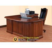 Meja Kantor Kayu Jati Eksekutif