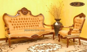 Sofa Tamu Kerang Jati