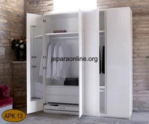 Almari Pakaian Minimalis Duko Putih