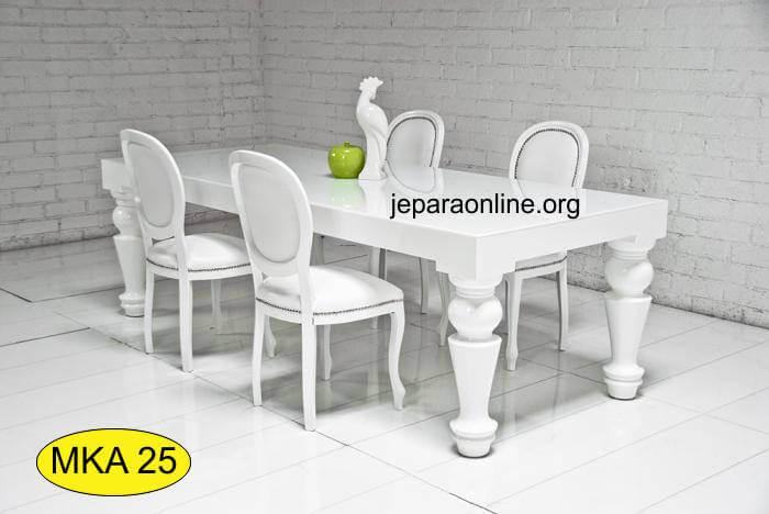Set Meja Makan Duko Putih