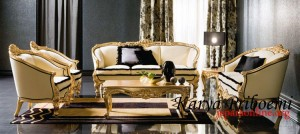 Sofa Louis Gold Leaf