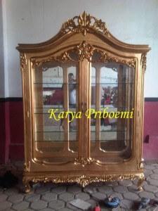Almari Kristal Gold Leaf