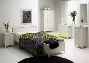 Set Kamar Tidur Minimalis Modern Duco Putih