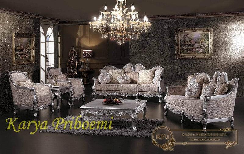 Kursi tamu sofa klasik silver for Sofa klasik