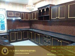 Kitchen Set Kayu Jati Minimalis