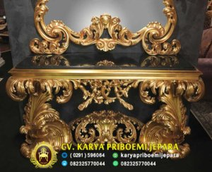 Meja Konsul Klasik Italian Baroque