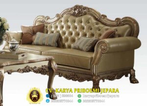 Sofa Tamu Mewah Ukiran Jepara