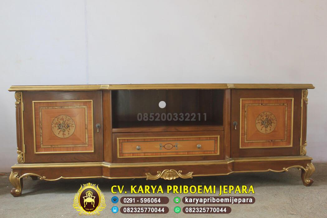 Bufet Tv Jati Klasik Veneer, Bufet Tv Jati, Bufet Tv Klasik, Bufet Tv Jati Jepara