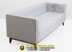 Sofa Tamu Minimalis Mewah Grey 3 Dudukan